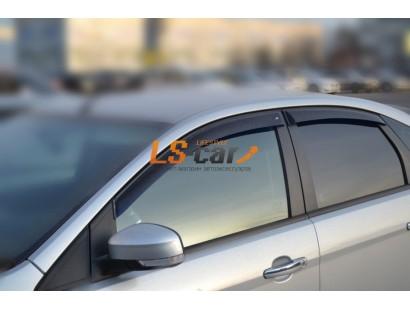 "Дефлекторы боковых окон Ford Focus II Sd/Hb 5d 2004-2011 ""CT"""