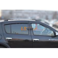 "Дефлекторы боковых окон Renault Sandero 2009 ""CT"""