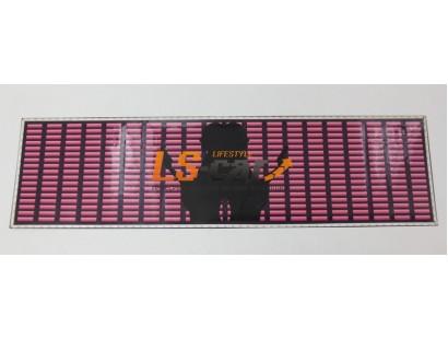"""Эквалайзер на стекло """"2 девушки с пистолетом"""" розовый, фиолетовый фон, 90х25см"""