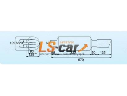 Глушитель прямоточный, спортивный HJ-A6041-S