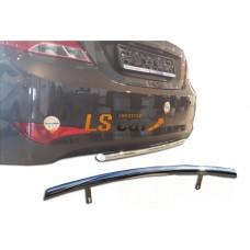 Защита задняя (скосы) Hyundai Solaris Sedan 2014