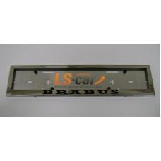 Рамка для номера (нержавеющая сталь, с надписью Brabus) 1шт