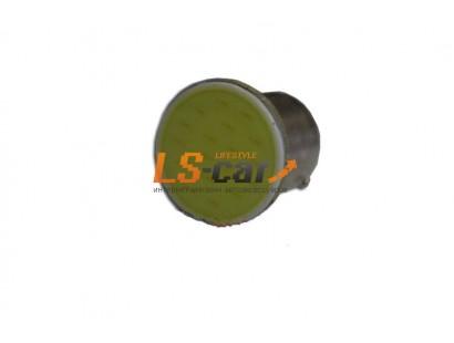 Светодиодная лампа для а/м 1156-COB 1-контакт (белый) 12V