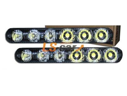 Фара ДНЕВНЫЕ ХОДОВЫЕ ОГНИ HDX-D027  6-LED 0.5W 12V