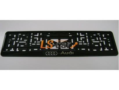 "Рамка для ГОС. номерного знака пластик рельеф (стандарт) ""Audi"" (112/1-STD-AU)"
