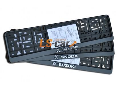 "Рамка для номерного знака пластик рельеф (стандарт) ""Daewoo"" (112/1-STD-DO)"