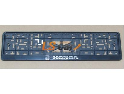 "Рамка для номерного знака пластик рельеф (стандарт) ""Honda"" (112/1-STD-HD), 1шт"