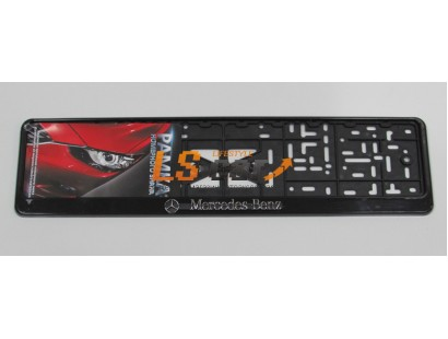 "Рамка для номерного знака пластик рельеф (стандарт) ""Mercedes"" (112/1-STD-MS)"