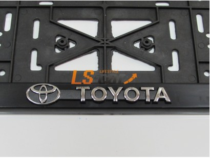 "Рамка для номерного знака пластик рельеф (стандарт) ""Toyota"" (112/1-STD-TO)"