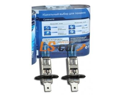 """Лампа галогеновая """" SKYLINE"""" H1  12V55W (PRECIOUS WHITE-5500K) комп. 2шт"""