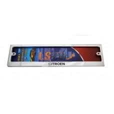 Рамка для ГОС. номерного знака, хром нержавеющая сталь (ком-т 2 шт) Citroen шелкография краска