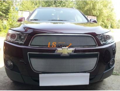 Защита радиатора Chevrolet Captiva 2012-2013 (2 шт) chrome