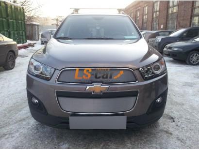 Защита радиатора Chevrolet Captiva 2013- рестайлинг (2 шт.) chrome