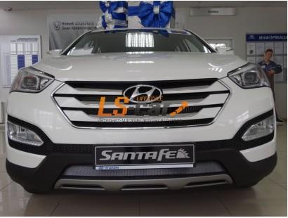Защита радиатора  Hyundai Santa Fe 2012- chrome