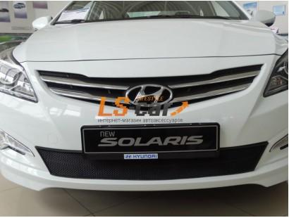 Защита радиатора  Hyundai Solaris 2014 - black