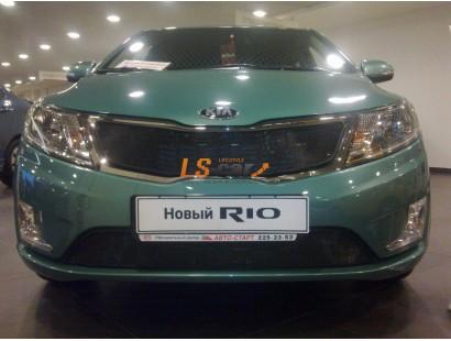 Защита радиатора  KIA RIO 2011- (Premium) black верх