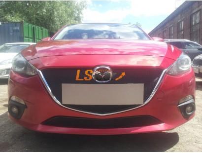 Защита радиатора Mazda 3 2013- black низ