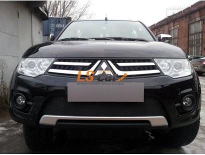 Защита радиатора Mitsubishi L200 2013- (калуга)/Pajero Sport 2013- (калуга) black