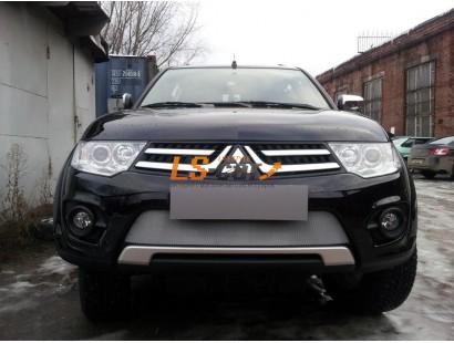 Защита радиатора  Mitsubishi Pajero Sport 2010-2013 chrome низ