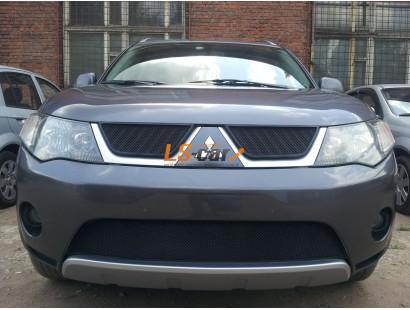 Защита радиатора Mitsubishi Outlander XL 2006-2010 (2 шт) black