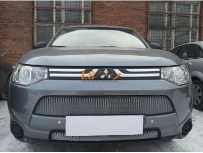 Защита радиатора Mitsubishi Outlander III 2012- (2 шт) chrome