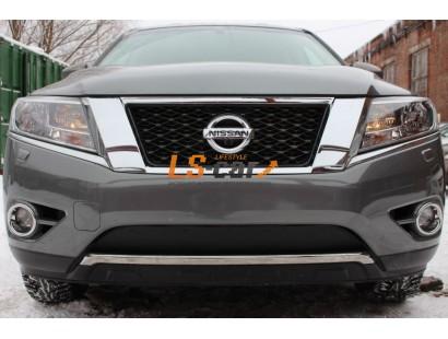 Защита радиатора Nissan Pathfinder 2014- низ black