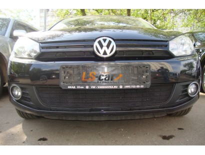Защита радиатора Volkswagen Golf VI black