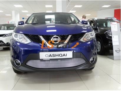 Защита радиатора Nissan Qashqai 2014- chrome без парктроников