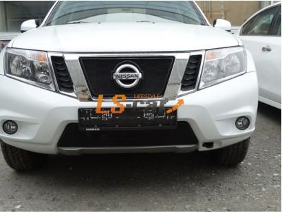 Защита радиатора Nissan Terrano 2014- black низ