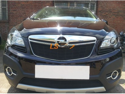 Защита радиатора Opel Mokka 2012- black низ