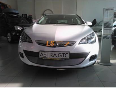 Защита радиатора Opel Astra J GTC 2010- chrome