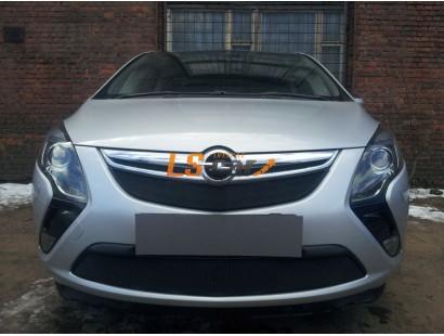 Защита радиатора Opel Zafira 2012- black верх