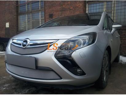Защита радиатора Opel Zafira 2012- chrome верх