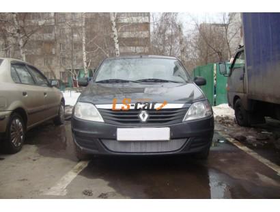 Защита радиатора  Renault Logan 2010-2013 chrome