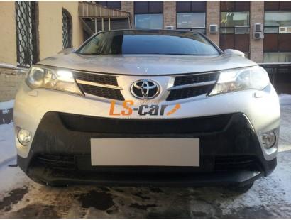 Защита радиатора Toyota Rav 4 2013- black верх