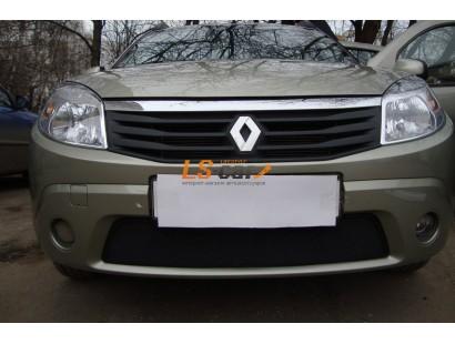 Защита радиатора  Renault Sandero 2010-2013 black