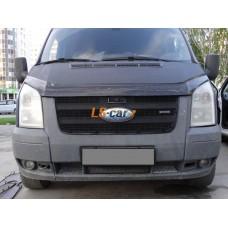 Защита радиатора  Ford Transit 2006-2015 верх black