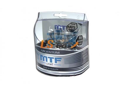 """Лампа галогеновая """"MTF""""  H1 12V 55W Argentum +80% ,комп. 2шт. HA5076"""