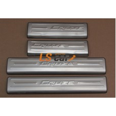 """Накладки на пороги Chevrolet Cruze 2014- """"Alvi-Style"""""""