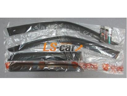 "Дефлекторы окон накладные Honda CR-V II  (2001-2007) ""Cobra"""