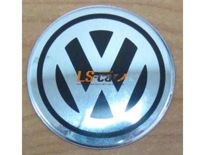 """Наклейка """"Volkswagen"""" (диаметр 90мм.) на автомобильные колпаки, диски компл. 4шт."""