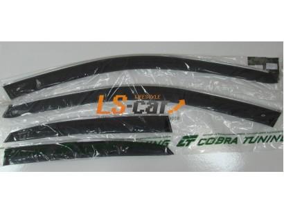 """Дефлекторы окон накладные Lexus NX (2014-) """"Cobra"""" с хромированным молдингом"""