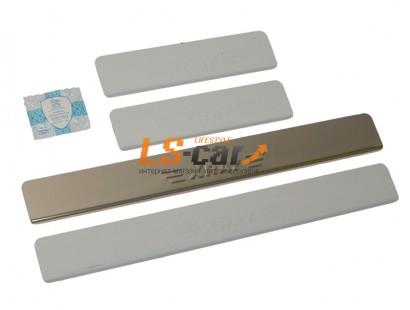 Накладки на пороги Lada X-Ray  из нержавеющей стали (комп 4шт.) ШТАМП