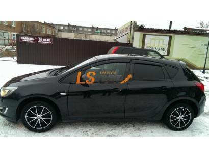 Дефлекторы боковых окон Opel Astra J хэтчбек, 2010 - н.в.