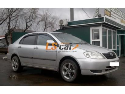 """Дефлекторы окон накладные Toyota Corolla (2001-2006; кузов E12) седан """"Cobra"""""""