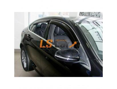 "Дефлекторы окон накл. MERCEDES GLC-class (2015-; кузов X253) ""COBRA"" хром молдинг"