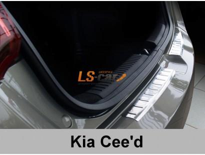 """Накладка на бампер KIA Ceed 5d 2012- (2 шт) """"Avisa"""""""