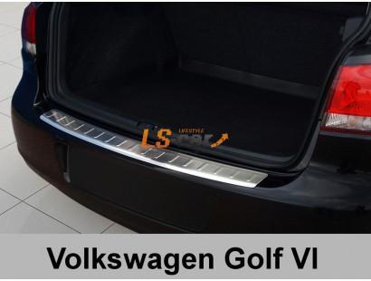 """Накладка на бампер VW Golf VI 5d 2008- """"AVISA"""""""