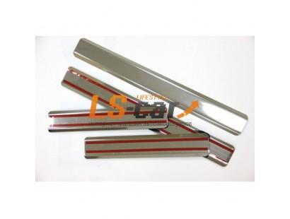 Накладки на пороги ВАЗ 2110 из нержавеющей стали