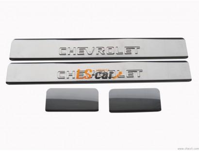 Накладки на пороги М/О CHEVROLET (Cobalt)  из нержавеющей стали (комп 4шт.)ШТАМП